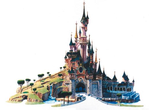 dessin du chteau de la belle au bois dormant 1992 - Dessin Chateau Disney